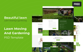 Beautiful Lawn - Lawn Mowing And Gardening Free PSD Template