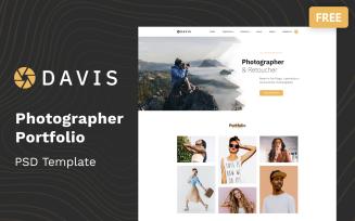 Davis - Photographer Portfolio Multipage Free PSD Template
