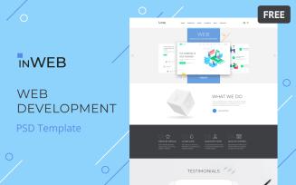 InWeb - Web Development Studio Clean Multipage Free PSD Template