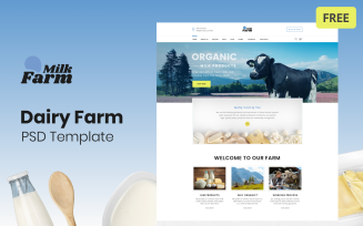 Milk Farm - Dairy Farm Free PSD Template