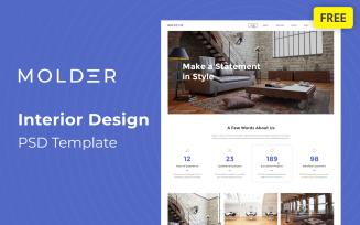 Molder - Interior Design Free PSD Template