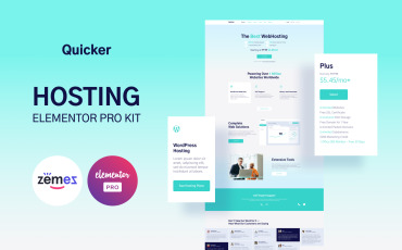 Quicker - Hosting Provider Company Website Template - Elementor Kit