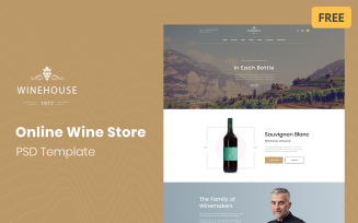 Winehouse - Online Wine Store Free PSD Template