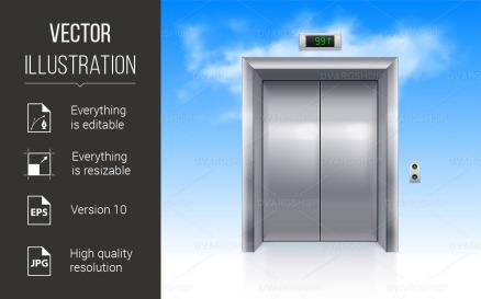 Elevator Doors Vector Graphic