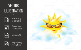 Cartoon Sun - Vector Image