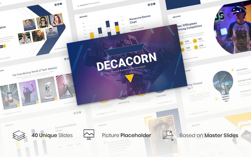 """Modello Google Slides #117143 """"Decacorn – Startup"""""""