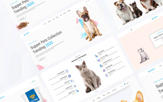 Animart Pet Shop Care Website Template