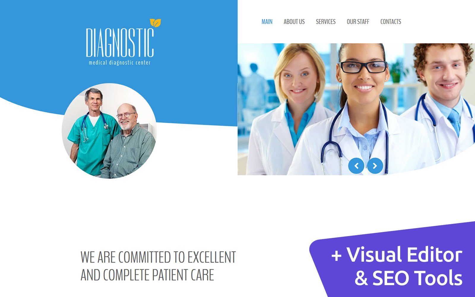 Reszponzív Medical Diagnostic Center Moto CMS 3 sablon 117223
