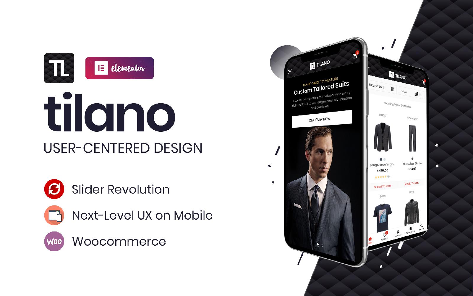 Tilano - Fashion Stylist Elementor WooCommerce Theme