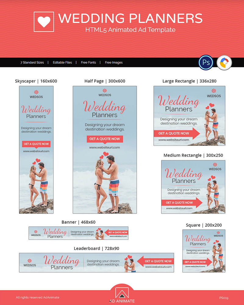 Wedding Planner Ads Animated Banner #117208