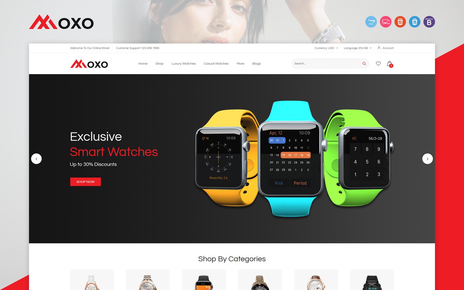 """Moxo"" 响应式OpenCart模板 #117435"