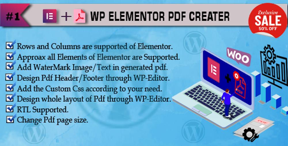 """Pdf Creator Addon For Elementor"" Bootstrap WordPress Plug-in №117438"