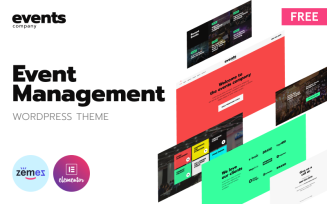 Events Company - Free Modern Event Landing Page Platform WordPress Theme