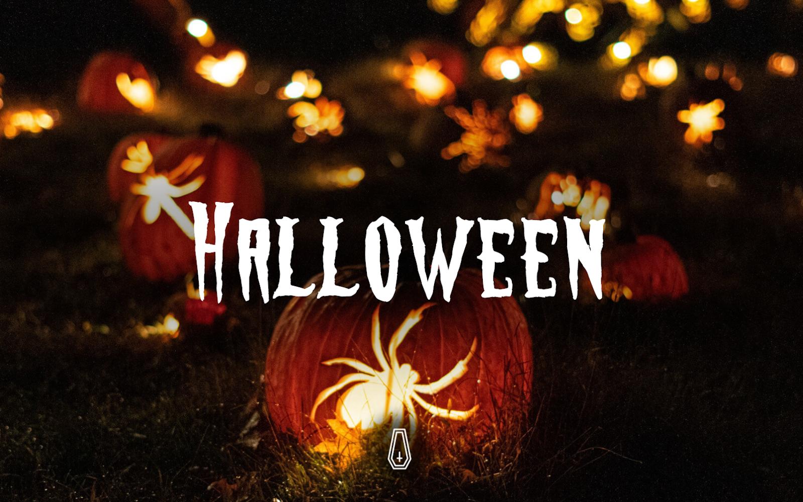 """Halloween Horror - | Vintage | Responsive"" 响应式Drupal模板 #117590"
