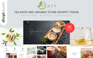 Teaty - Tea And Organic Store Responsive Shopify Theme