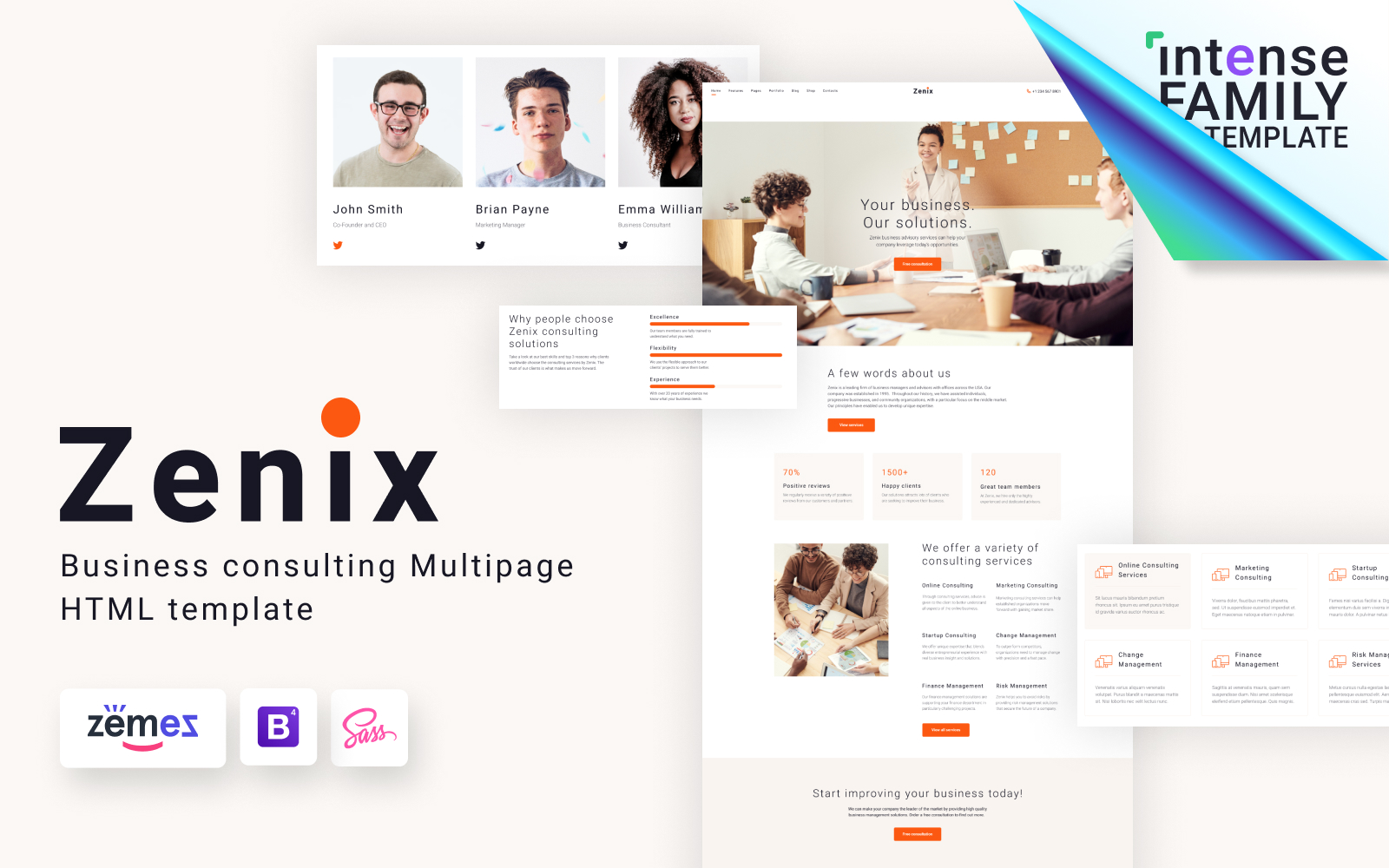 Zenix - Business Consulting HTML Template Web №117596