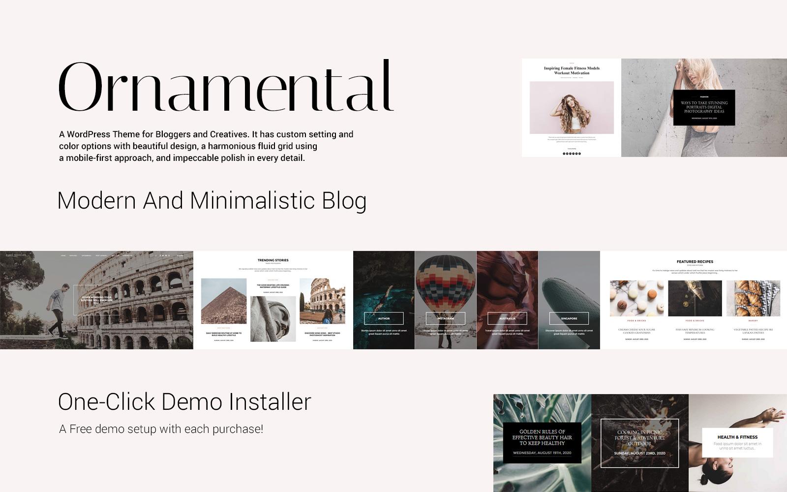"""Ornamental - Multi-Concept Responsive Blog"" Responsive WordPress thema №117726"