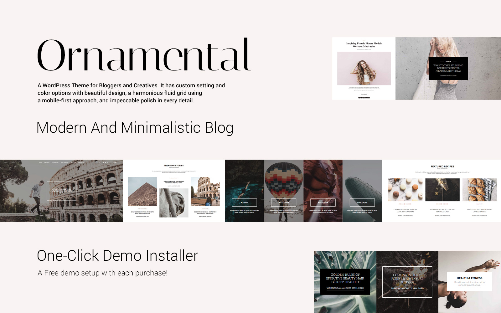 """Ornamental - Multi-Concept Responsive Blog"" thème WordPress adaptatif #117726"