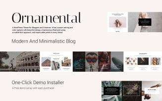Ornamental - Multi-Concept Responsive Blog WordPress Theme