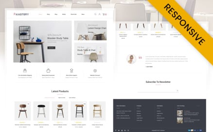 Kastery - Wood Furniture Store WooCommerce Theme
