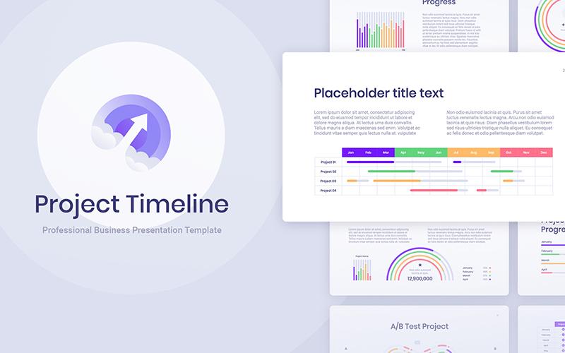 """""""Project Timeline"""" - Keynote шаблон №117833"""