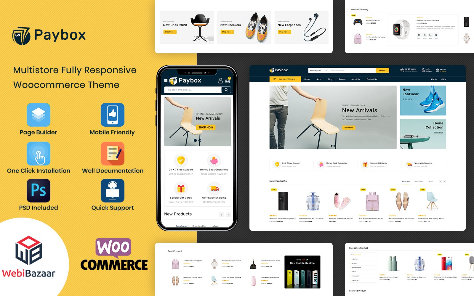 Responsywny motyw WooCommerce PayBox - Multipurpose Super Market #117876