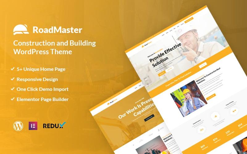 """Roadmaster - Construction and Building"" Responsive WordPress thema №117878"