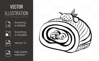 Sketch of Food - Vector Image