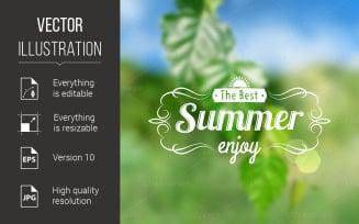 Summer Postcard - Vector Image