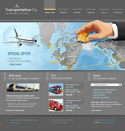 Intretinere site companie transport