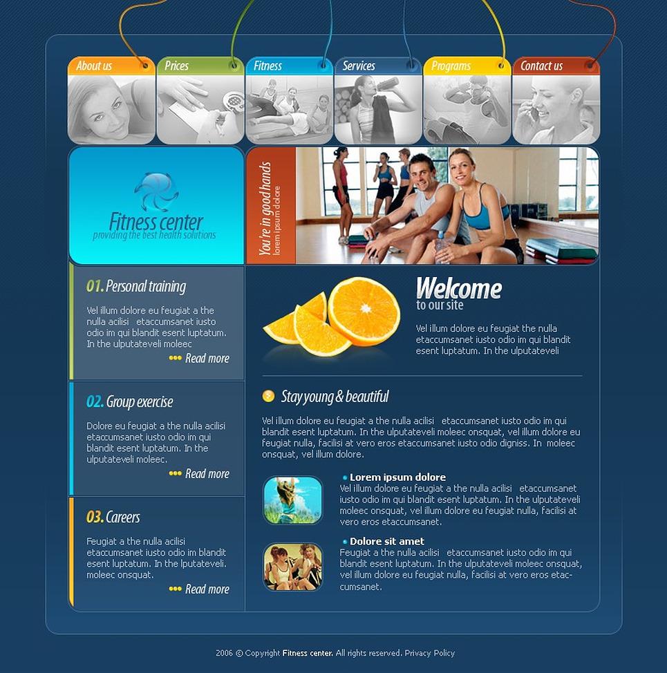 website vorlage 11899 f r fitness