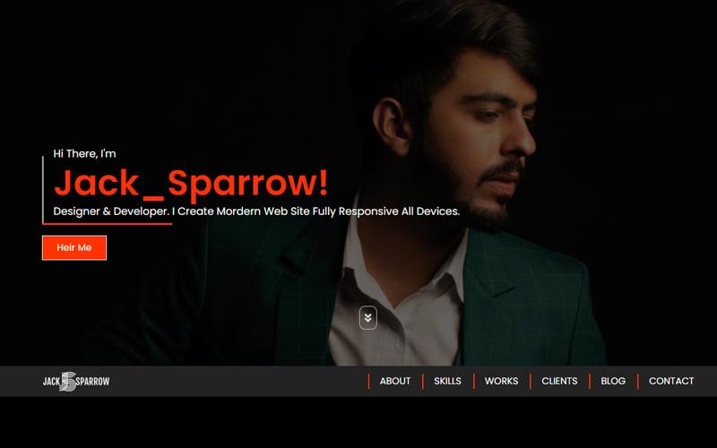 Jack_Sparrow - Personal Portfolio Landing Page Template