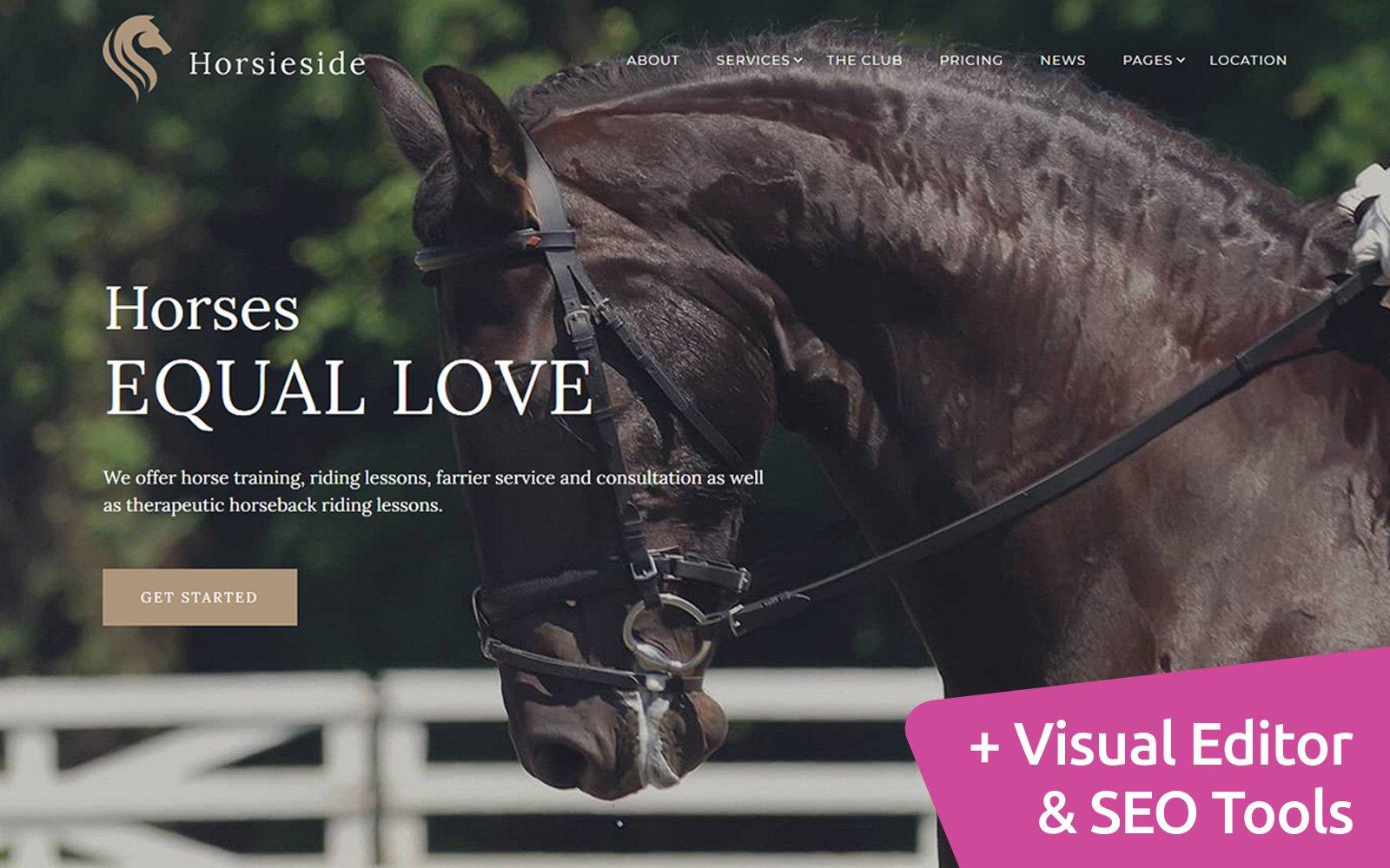 Reszponzív Horsieside - Equestrian Center Moto CMS 3 sablon 118084
