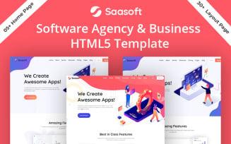 Saasoft Software Agency & Digital Marketing Website Template