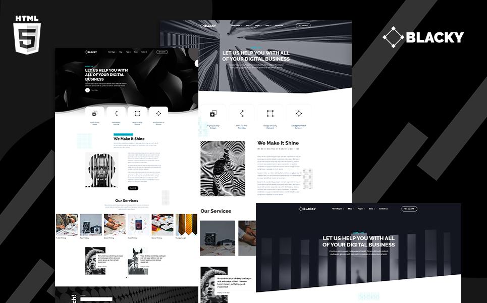 Blacky Minimal Digital Agency №118184