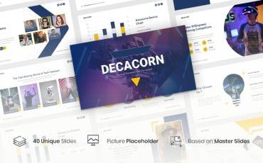 Decacorn – Startup PowerPoint template