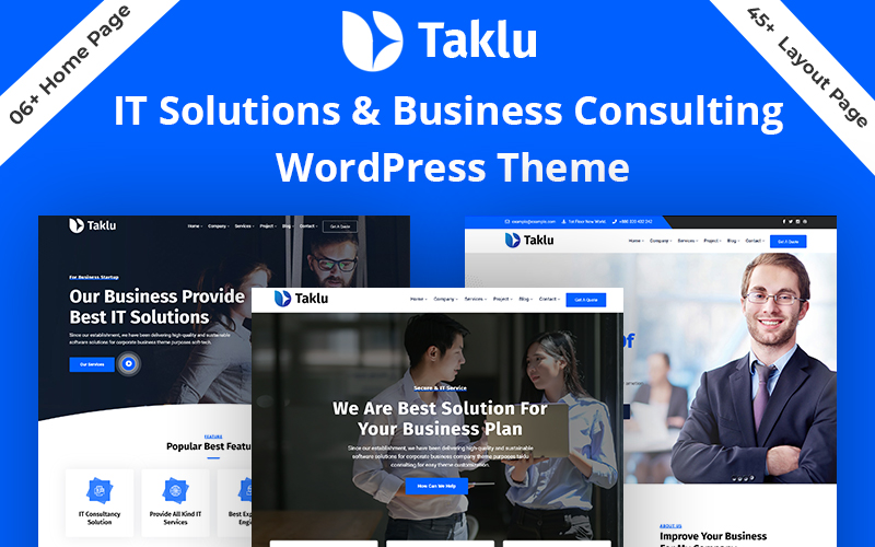 "Tema De WordPress ""Taklu - Technology & Business Service"" #118186"
