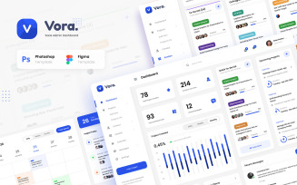 Vora - Saas Admin Dashboard UI Design Template PSD Figma