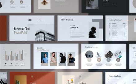 Minimal Business Plan Presentation Google Slide