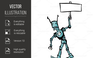 Cartoon Robot - Vector Image