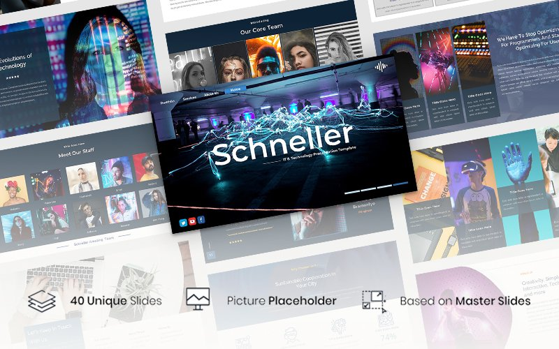 """Schneller - IT & Technology Presentation"" modèle PowerPoint  #118292"