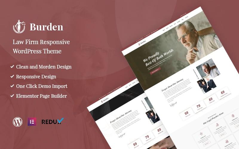 Burden - Law Firm Responsive Tema WordPress №118367