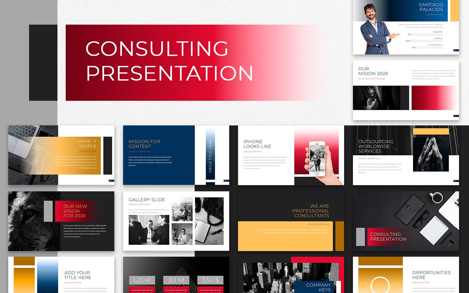 """""""Consulting Presentation"""" modèle PowerPoint Premium #118386"""