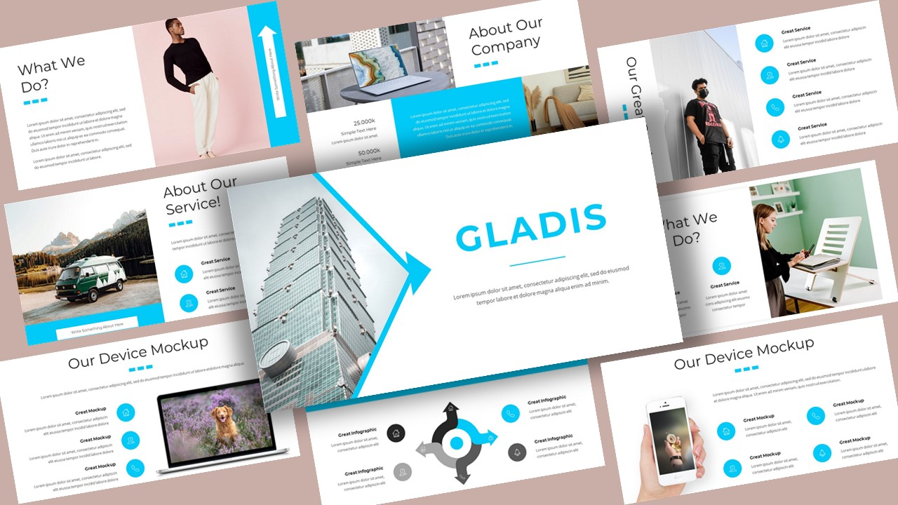 """Gladis Creative Business"" modèle PowerPoint Premium #118379"