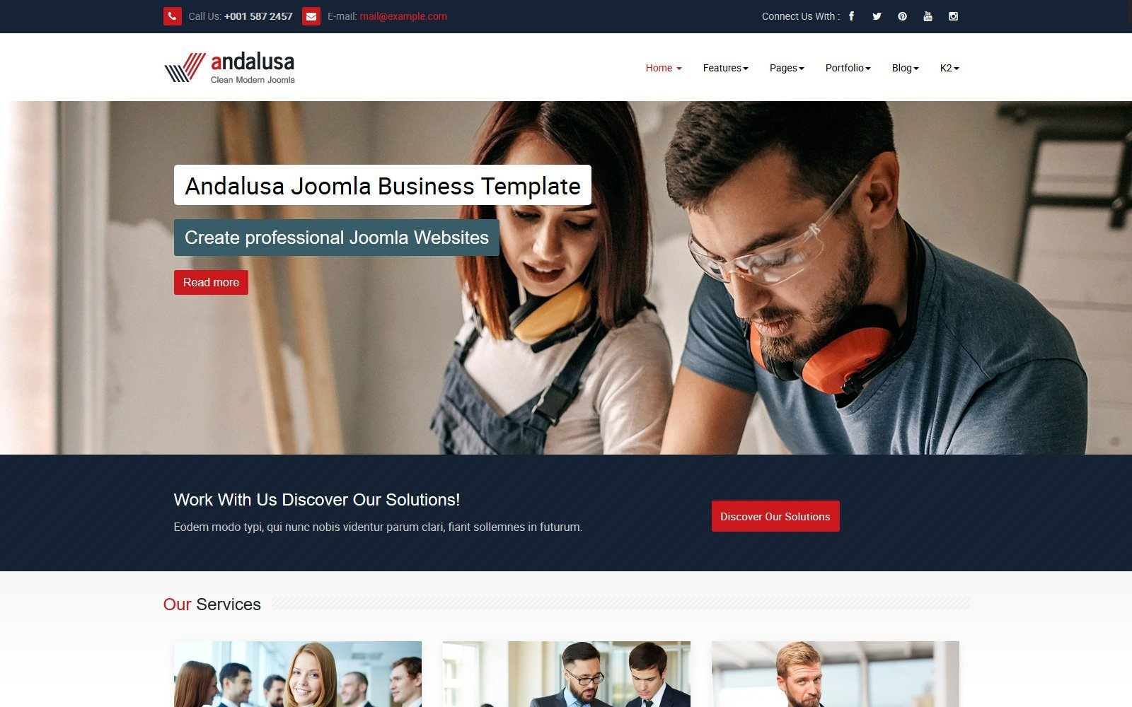 Reszponzív Andalusa Business-Corporation Joomla sablon 118368