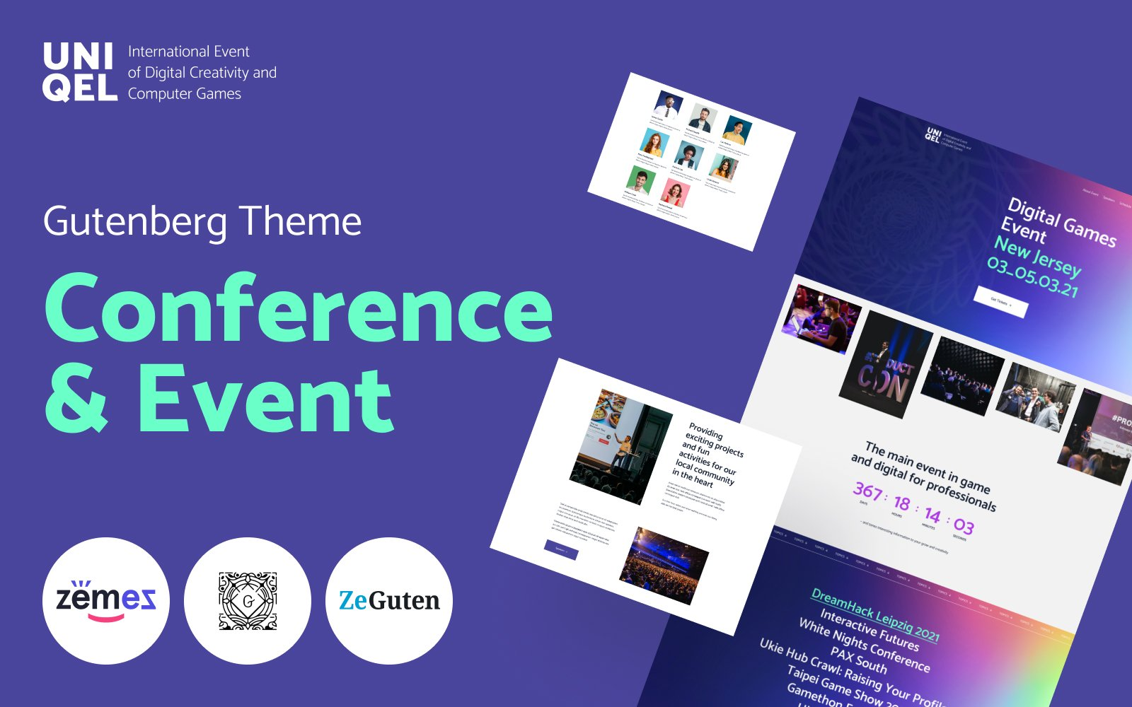 """Template WordPress Responsive #118372 """"Uniqel - Conference and Event"""""""