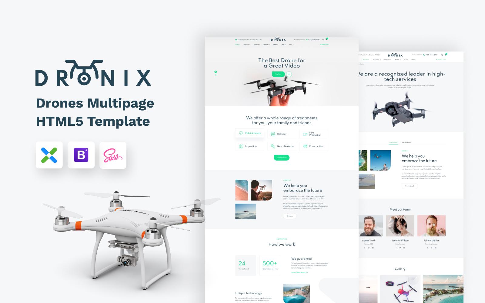 Dronix - Website sjabloon voor drone-winkel