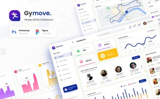 Gymove - Fitness Admin Dashboard Website Design UI Elements