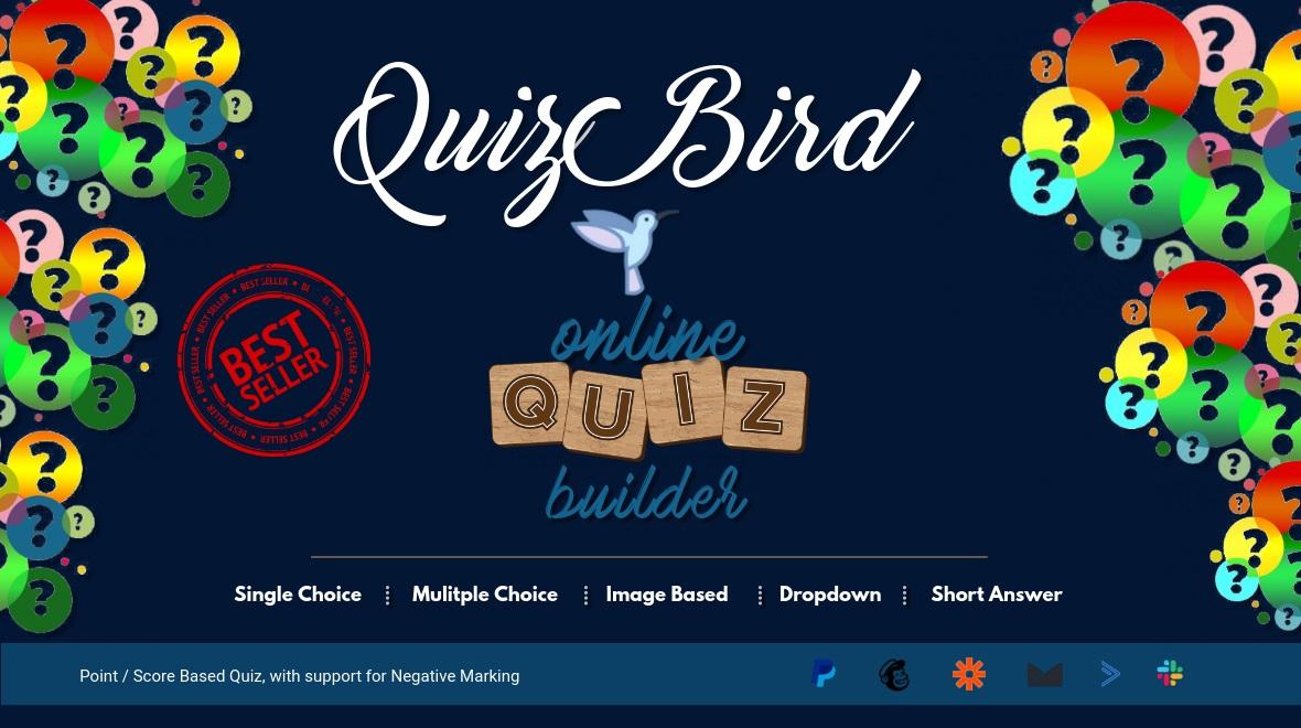 """""""Quiz Bird - Quizzes and Tests"""" wordPress Plugin  #118517"""