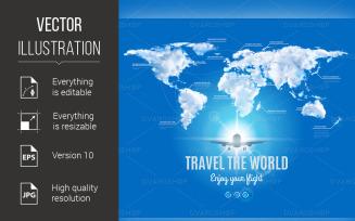 Travel the World Design - Vector Image